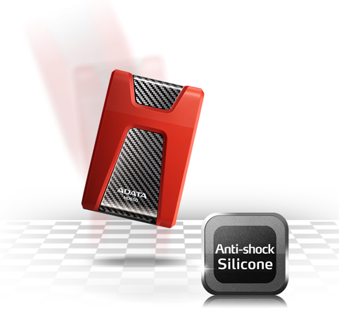 ADATA DashDriv Durable HD650 1TB Anti-Shock Portable External HDD - Red Image