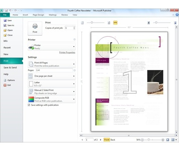 Microsoft Office Publisher Templates Newsletter