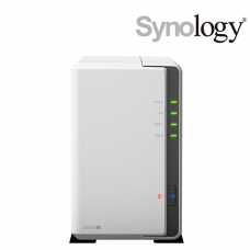 Synology DiskStation DS218j NAS Server (2 Bay, Marvell Dual Core 1.3 GHz, 512 MB DDR3, Tower)