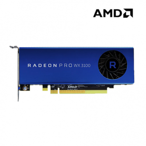 AMD Radeon Pro WX3100 Workstation Graphics Card (4GB GDDR5, PCI-E 3.0 x16, 128 bit, 1 DisplayPort 1.4)
